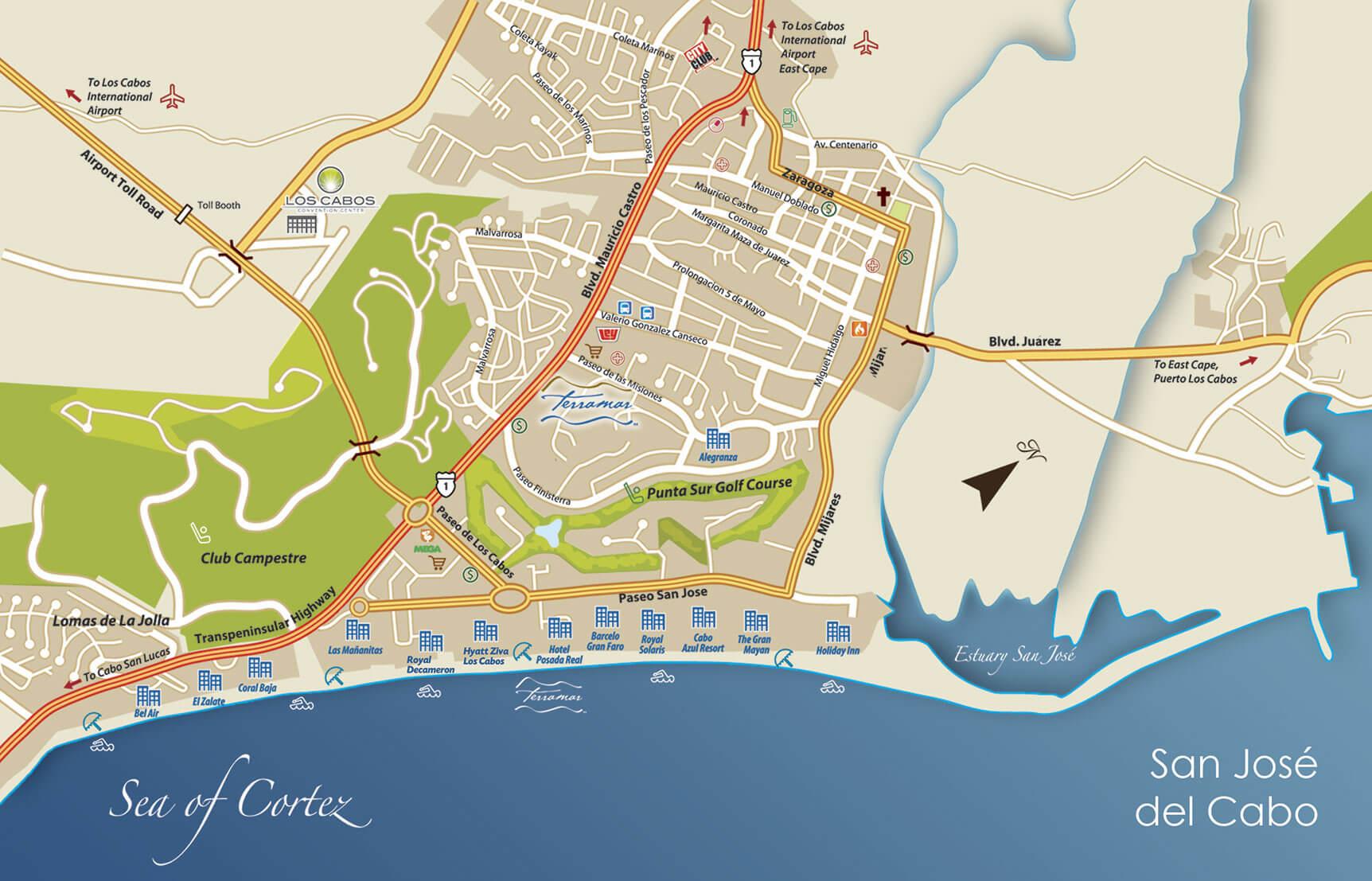 San Jose Cabo Mexico Map.Map San Jose Del Cabo